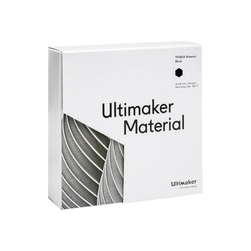 Cuộn sợi nhựa in 3D Ultimaker TPU 95A màu đen 4