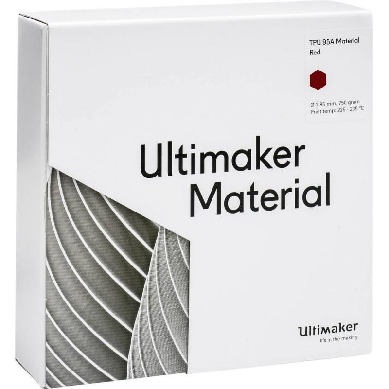 Cuộn sợi nhựa in 3D Ultimaker TPU 95A màu đỏ 4