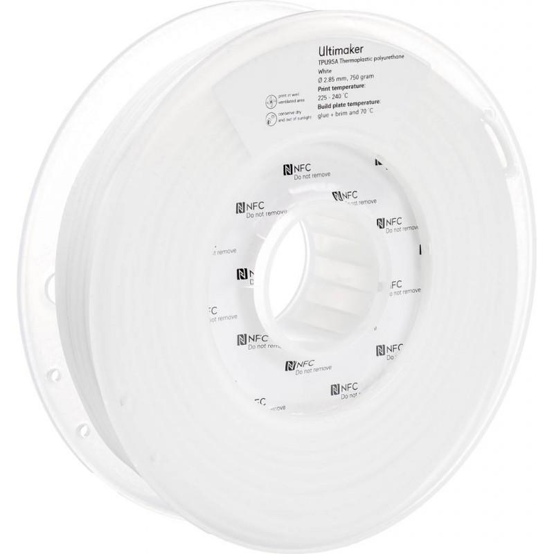 Cuộn sợi nhựa in 3D Ultimaker TPU 95A màu trắng 1