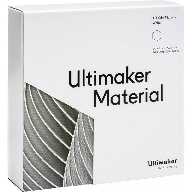 Cuộn sợi nhựa in 3D Ultimaker TPU 95A màu trắng 4