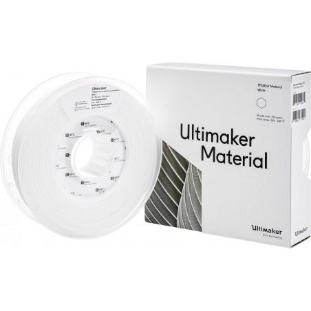 Cuộn sợi nhựa in 3D Ultimaker TPU 95A màu trắng
