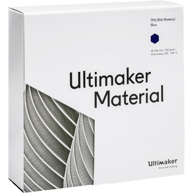 Cuộn sợi nhưa in 3D Ultimaker TPU 95A màu xanh 3