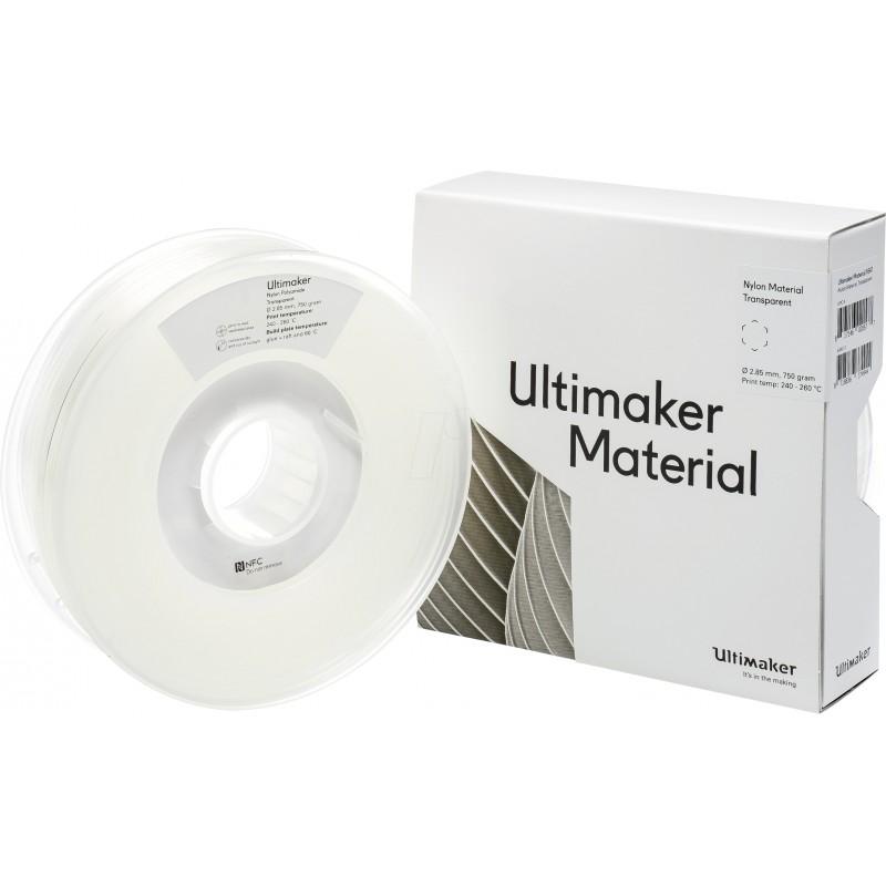 Cuộn sợi nhựa in 3D Ultimaker Nylon màu trong suốt