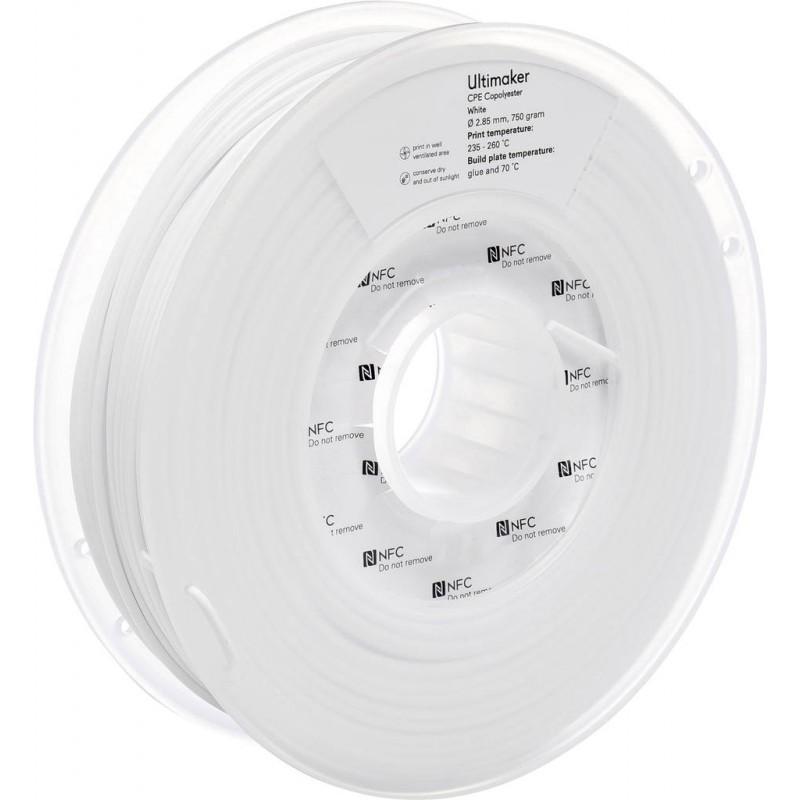 Cuộn sợi nhựa in 3D Ultimaker CPE màu trắng 2