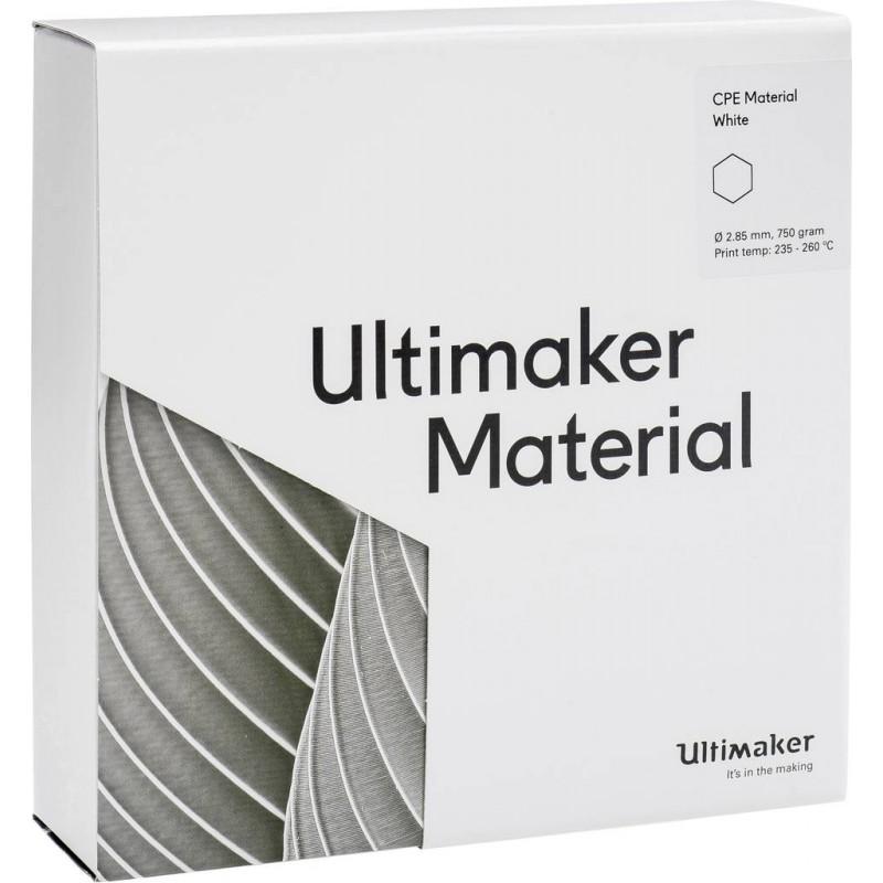 Cuộn sợi nhựa in 3D Ultimaker CPE màu trắng 3