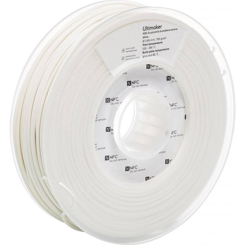 Cuộn sợi nhựa in 3D Ultimaker ABS màu trắng 2