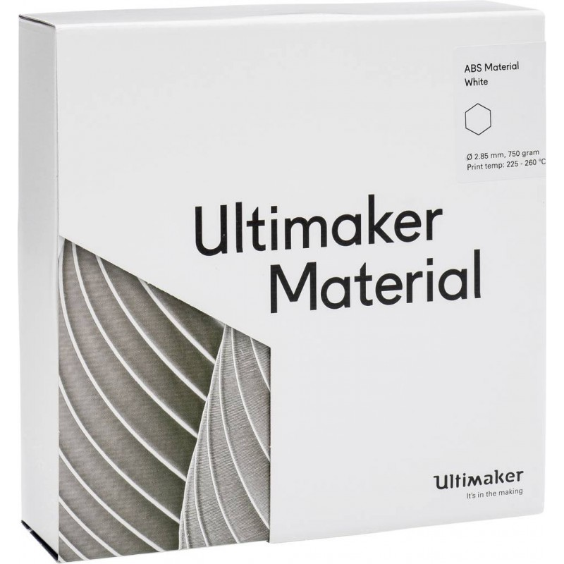 ABS Filament Ultimaker white In3DS 3
