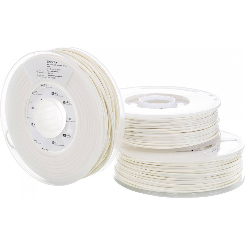 ABS Filament Ultimaker white In3DS 4