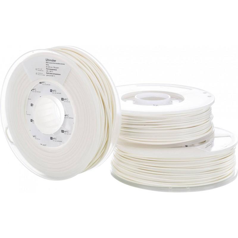 Cuộn sợi nhựa in 3D Ultimaker ABS màu trắng 4