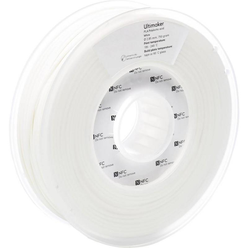 Cuộn sợi nhựa in 3D Ultimaker PLA màu trắng 3