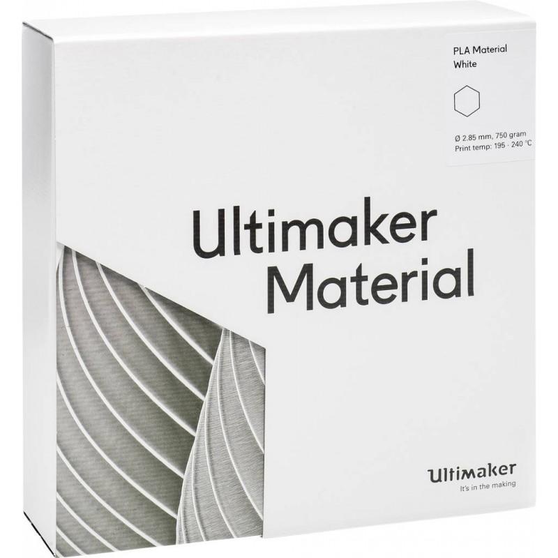 Cuộn sợi nhựa in 3D Ultimaker PLA màu trắng 4