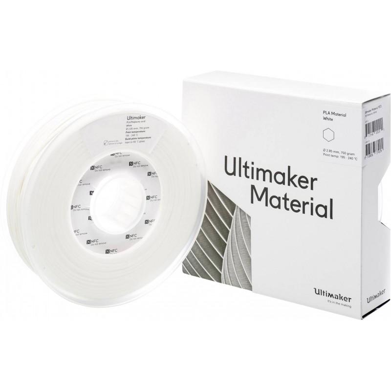 Cuộn sợi nhựa in 3D Ultimaker PLA màu trắng