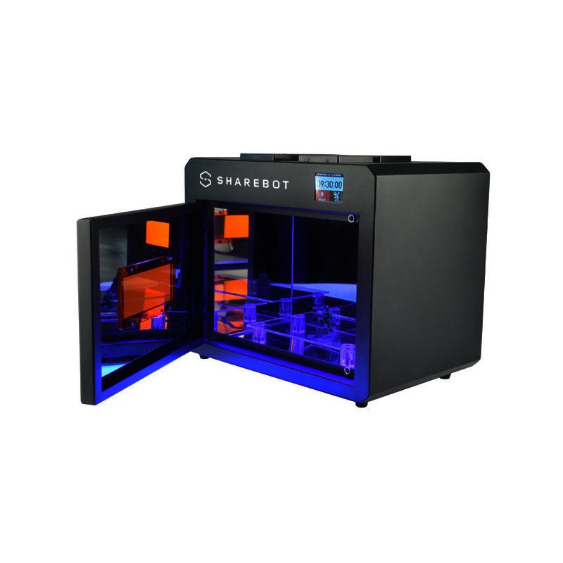 Máy in 3D Resin / SLA Sharebot Viking mặt cạnh.