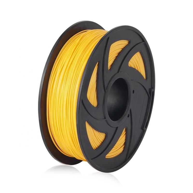 Cuộn sợi nhựa in 3D màu vàng PLA 1