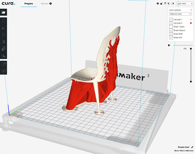 Phầm mềm in 3D Ultimaker Cura 3.2 3 chiều