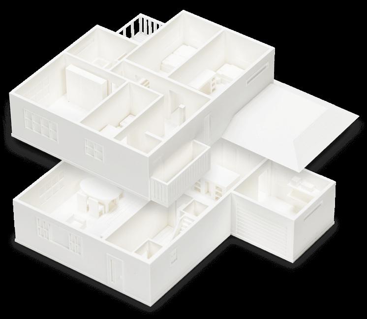 Nhựa in 3D PLA Ultimaker tạo mẫu trong kiến trúc