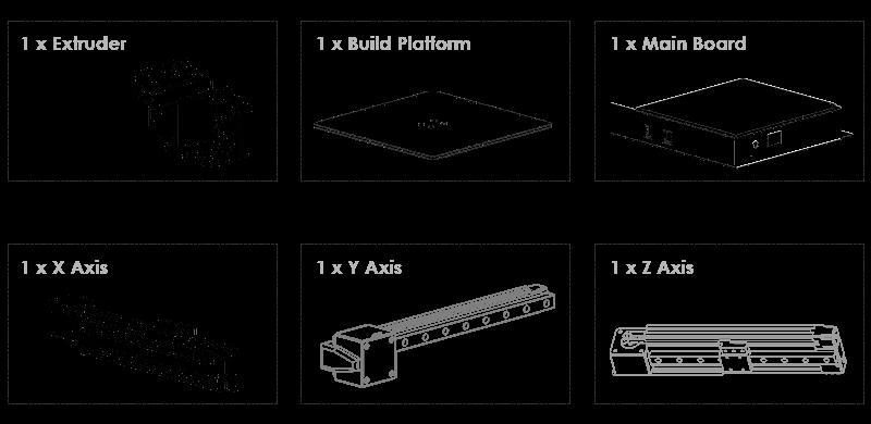 Máy in 3d giá rẻ 6 modules